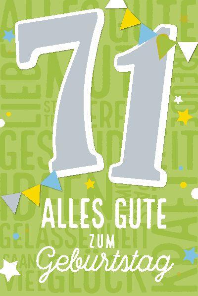 Musikkarten Geburtstag 71 Alles Gute Zum Geburtstag