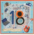 Konfetticards Klappkarten mit Konfetti 002 - Endlich 18 Happy Birthday