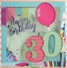Konfetticards Klappkarten mit Konfetti 003-  30 Happy Birthday