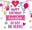 Geburtstagskerze mit Namen Carolin