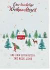 Lustige Weihnachtskarte Klappkarte Eine kuschelige Weihnachtszeit und einen