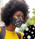Stylische Gesichtsmaske Gänseblume Schwarz (M)