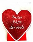 Udo Schmidt Geschenktüte Bester Papa der Welt in Herzform
