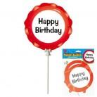 Folienballon 3 teiliges Ballonset Happy Bithday