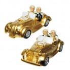 Deko Figur Senioren Gold-Hochzeitspaar im Auto sortierter Artikel Lieferumfang 1 Stück
