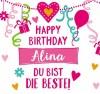 Geburtstagskerze mit Namen Alina