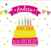 Geburtstagskerze mit Namen Andrea