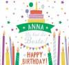 Geburtstagskerze mit Namen Anna