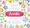 Geburtstagskerze mit Namen Annika