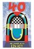 Musikkarten mit Überraschung 008b zum 40. Geburtstag
