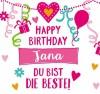 Geburtstagskerze mit Namen Jana