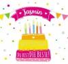 Geburtstagskerze mit Namen Jasmin