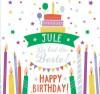 Geburtstagskerze mit Namen Jule