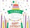 Geburtstagskerze mit Namen Leonie