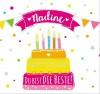 Geburtstagskerze mit Namen Nadine