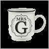 H&H Becher Mrs G - für Hochzeit, Jubiläum und Jahrestag