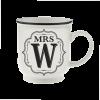 H&H Becher Mrs W - für Hochzeit, Jubiläum und Jahrestag
