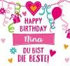 Geburtstagskerze mit Namen Nina