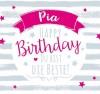 Geburtstagskerze mit Namen Pia