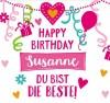 Geburtstagskerze mit Namen Susanne