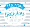 Geburtstagskerze mit Namen Benjamin