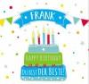 Geburtstagskerze mit Namen Frank