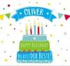 Geburtstagskerze mit Namen Oliver