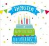 Geburtstagskerze mit Namen Thomas