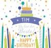 Geburtstagskerze mit Namen Tim