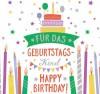 Geburtstagskerze mit Spruch Für das Geburtstagskind