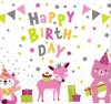 Geburtstagskerze mit Spruch Happy Birthday (Kinderdesign Junge)