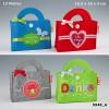 Musiktasche Geschenktasche aus Filz mit Musik 007