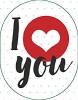 Schlüsselanhänger mit Spruch I love you