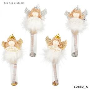 WUNSCHERFÜLLER Engelfigur auf Glasfläschchen 1 von 4