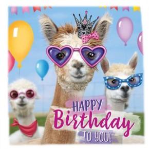 Depesche 3D Foto Klappkarte quadratisch 003 C Happy Birthday to you