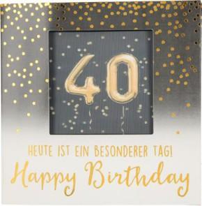 Geburtstagskarte Klappkarte 3D mit Musik & Licht 40 Heute ist ein besonderer Tag! Happy..