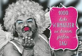 Lustige Sprüche Karten Undercover 004D 1000 Schmatzer
