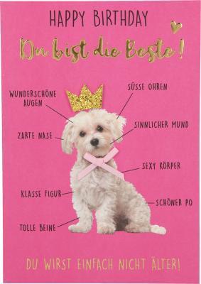 Depesche Klappkarten Bitte Laecheln - Happy Birthday du bist die Beste!...