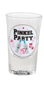 Geburt Mädchen Schnapsglas Pinkel-Party rosa