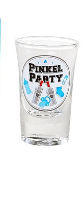 Geburt Junge Schnapsglas Pinkel-Party blau