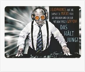 Lustige Sprüche Karten Undercover 008e Headphones auf