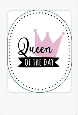 Schlüsselanhänger mit Spruch Queen of the day