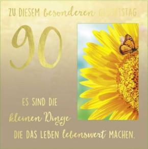 Geburtstagskarte Klappkarte 3D mit Musik & Licht Zu diesem besonderen Geburtstag 90 Es...