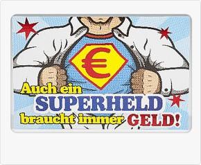 Klappkarte für Geldgeschenke 2239-013b Superheld