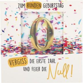 Geburtstagskarte Klappkarte 3D mit Musik & Licht Zum runden Geburtstag vergiss die ...