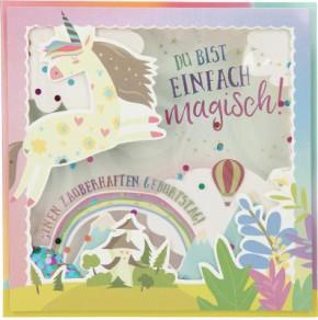 Konfetticards Klappkarten mit Konfetti 015 - Du bist einfach magisch! Einen zauberhaf