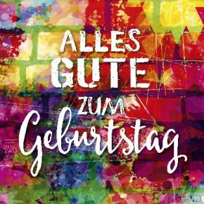 Geburtstagskarte mit Musik 3868-016e Alles Gute zum Geburtstag