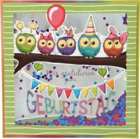 Konfetticards Klappkarten mit Konfetti 017 - Wir gratulieren zum Geburtstag