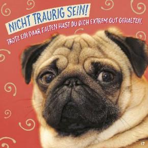 Geburtstagskarte mit Musik 3868-017H Nicht traurig sein!