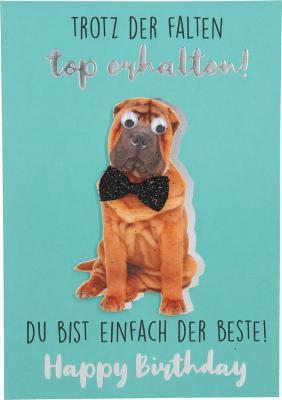 Depesche Klappkarten Bitte Laecheln - Trotz der Falten top erhalten!...